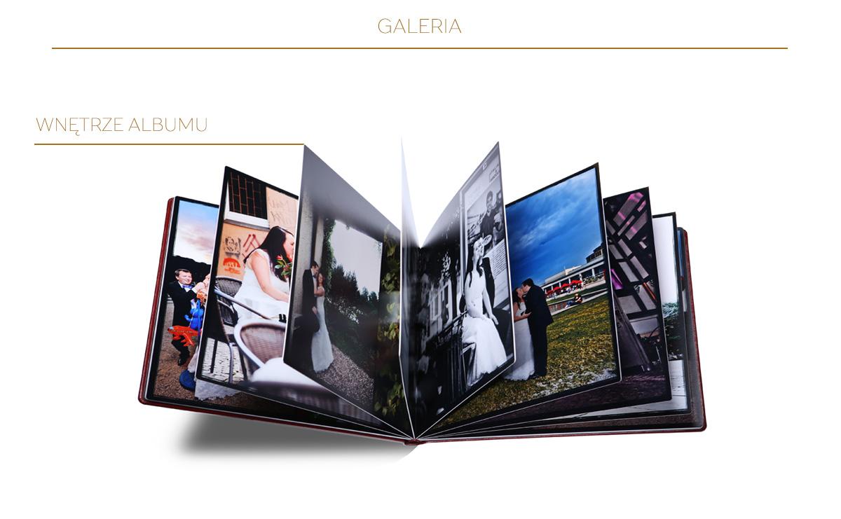 Wnętrze fotoalbumu A4 poziom