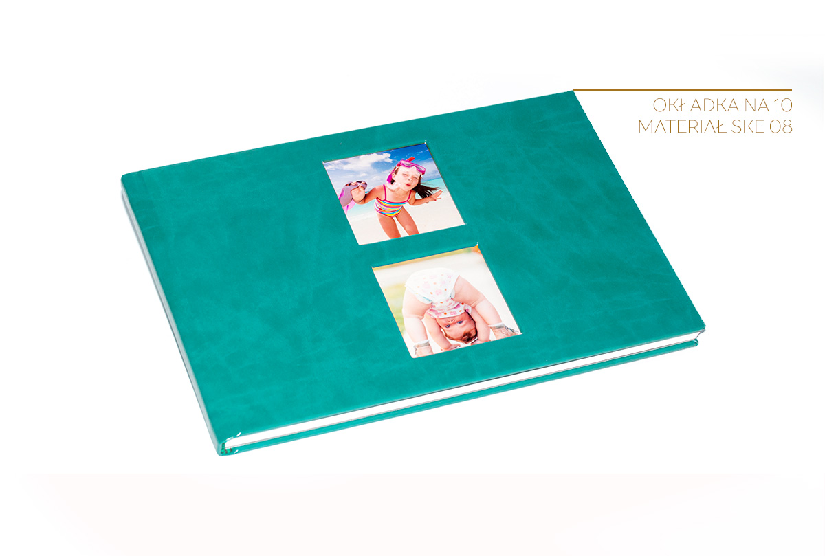fotoalbum A4 poziom z okładką z jednym oknem NA6