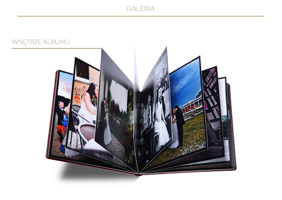 Wnętrze fotoalbumu A4 pion